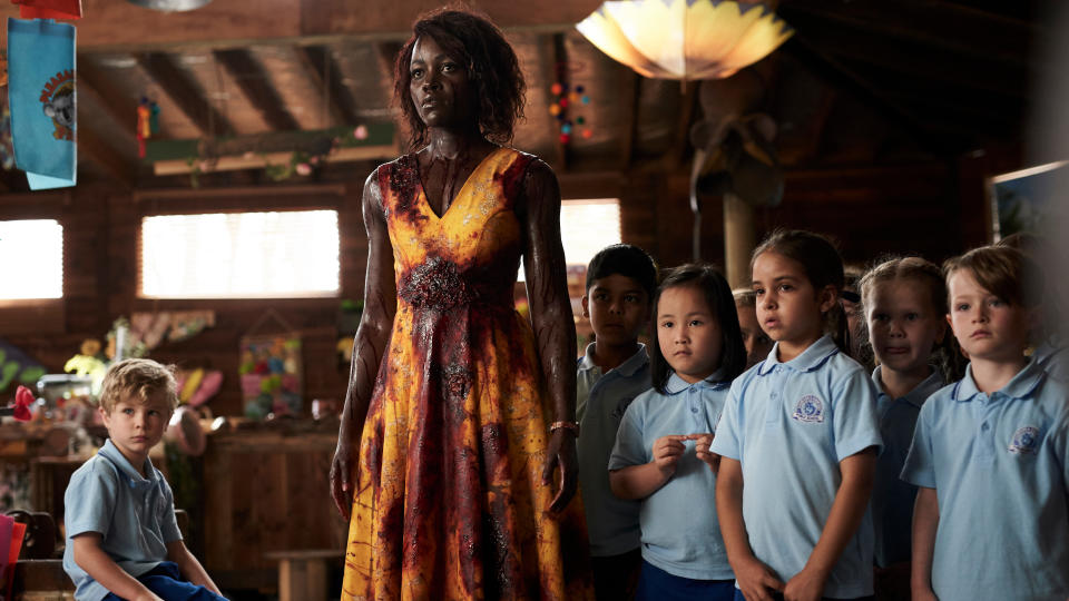 Lupita Nyong'o makes the first of two appearances on this list for her role as a chirpy kindergarten teacher protecting her class of kiddies when zombies attack a petting zoo. Josh Gad also stars as a foul-mouthed children's entertainer, spouting words you do not expect to hear coming out of Olaf's mouth. (Credit: Altitude)