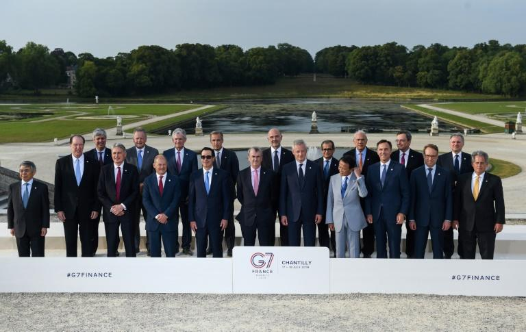 G7 ministers reached consensus on steps towards taxing the digital giants amid differences between the US and France and Britain. (AFP Photo/ERIC PIERMONT)