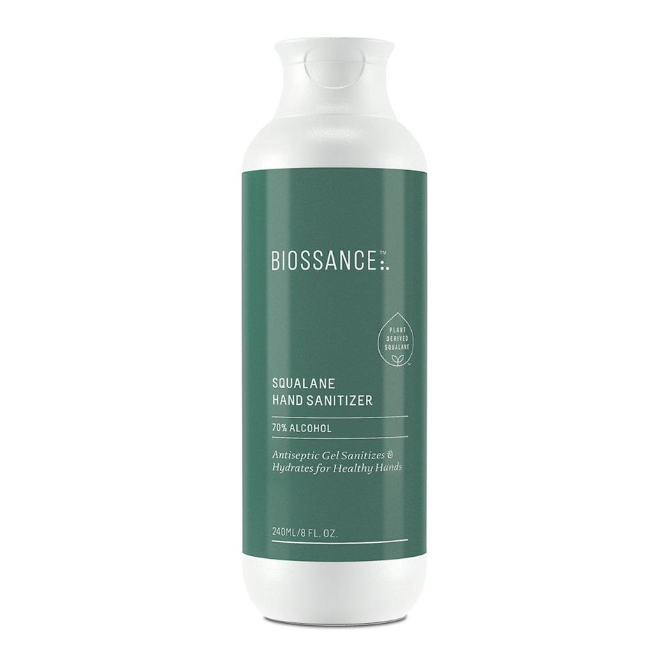 """If you're all about hydrating, unscented formulas, Biossance's Squalane Hand Sanitizer Defend is a luxurious cream-gel derived from the brand's star ingredient, <a href=""""https://www.allure.com/story/squalane-vs-squalene-skin-care-difference?mbid=synd_yahoo_rss"""" rel=""""nofollow noopener"""" target=""""_blank"""" data-ylk=""""slk:squalane"""" class=""""link rapid-noclick-resp"""">squalane</a>. And to make sure it destroys any bacteria in its way, it's flanked by 70 percent ethyl alcohol. Squalane and <a href=""""https://www.allure.com/story/what-is-glycerin-skin-care-ingredient?mbid=synd_yahoo_rss"""" rel=""""nofollow noopener"""" target=""""_blank"""" data-ylk=""""slk:vegan glycerin"""" class=""""link rapid-noclick-resp"""">vegan glycerin</a> replenish the skin's moisture barrier so your hands stay soft, even after the 25th cleanse of the day."""