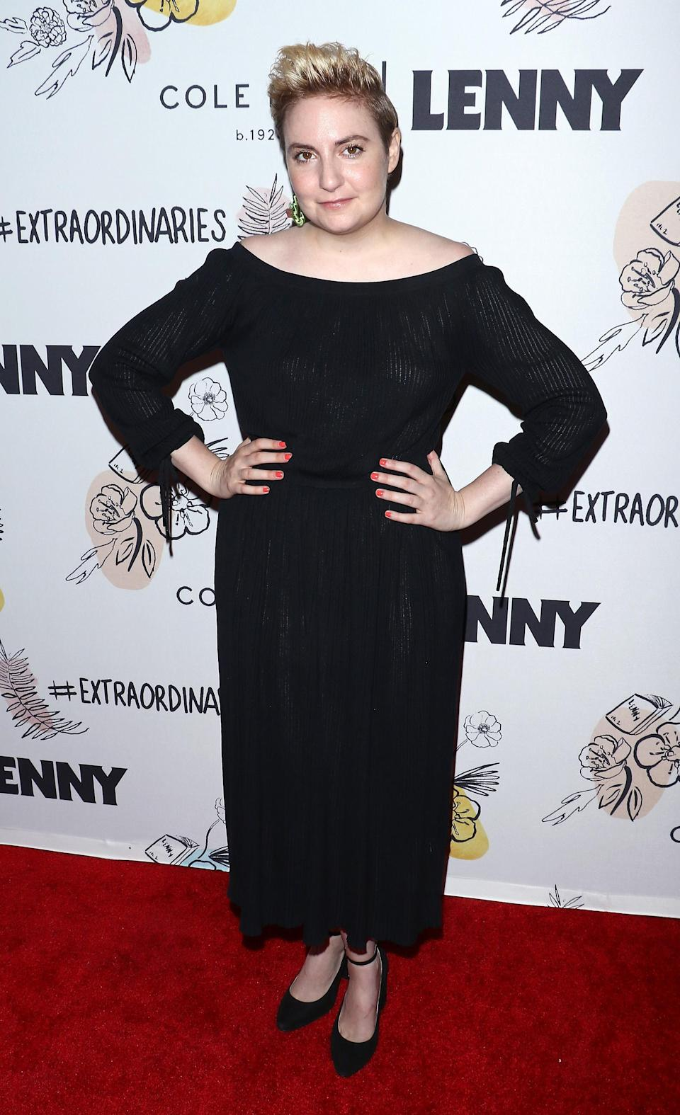 Despite the hysterectomy Lena Dunham is hopeful about becoming a mother in the future [Photo: Getty]