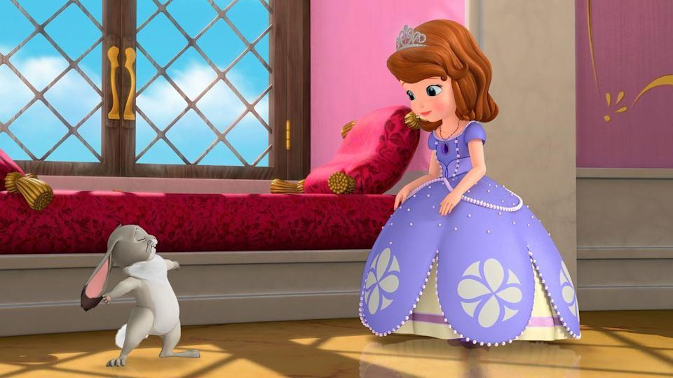 "<p>For every kid that's dreamed of becoming a princess overnight, <em>Sofia the First </em>is about an average girl who becomes princess when her mom marries the king. Only she tries to stay grounded, and stay true to herself despite her new royal surroundings. </p><p><a class=""link rapid-noclick-resp"" href=""https://www.netflix.com/title/70293622"" rel=""nofollow noopener"" target=""_blank"" data-ylk=""slk:WATCH NOW"">WATCH NOW</a></p>"