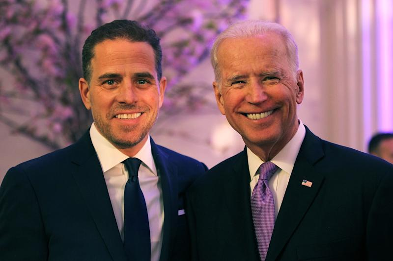 Hunter y Joe Biden en 2016. (Photo by Teresa Kroeger/Getty Images for World Food Program USA)