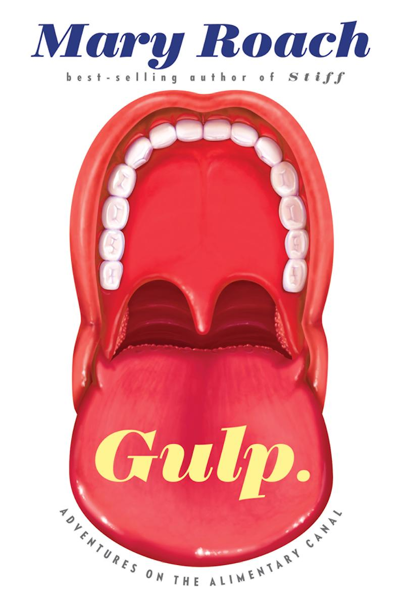"""This book cover image released by W. W. Norton & Company shows """"Gulp: Adventures on the Alimentary Canal,"""" by Mary Roach. (AP Photo/W. W. Norton & Company)"""