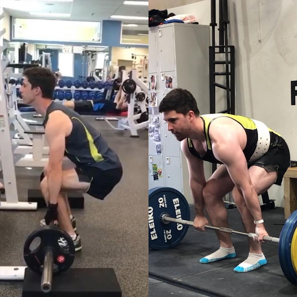 Patrick from MAFS before and after weightlifting.