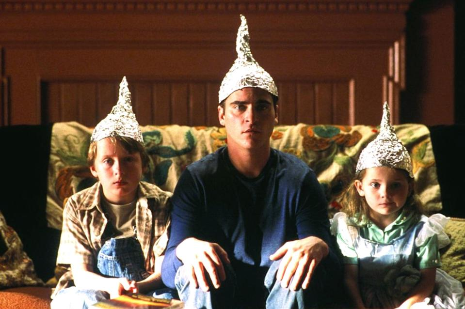 """<p><strong>The Sixth Sense</strong> gets all of the attention, but <strong>Signs</strong> is easily one of director M. Night Shyamalan's best films. While the plot revolves around how one family deals with the news of a sudden alien invasion, this movie is secretly about grief, moving forward after the loss of a loved one, and a father stepping up for his family even though he's never felt more adrift. </p> <p><a href=""""https://www.amazon.com/gp/video/detail/amzn1.dv.gti.48a9f787-453b-8a51-1d52-876ea034b353"""" class=""""link rapid-noclick-resp"""" rel=""""nofollow noopener"""" target=""""_blank"""" data-ylk=""""slk:Watch Signs on Amazon Video."""">Watch <strong>Signs</strong> on Amazon Video.</a></p>"""