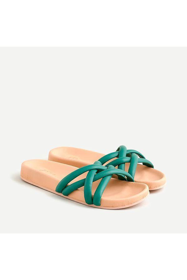 """<p><strong>J.Crew</strong></p><p>jcrew.com</p><p><strong>$98.00</strong></p><p><a href=""""https://go.redirectingat.com?id=74968X1596630&url=https%3A%2F%2Fwww.jcrew.com%2Fp%2FAY424&sref=https%3A%2F%2Fwww.oprahdaily.com%2Fstyle%2Fg25893553%2Fbest-sandals-for-women%2F"""" rel=""""nofollow noopener"""" target=""""_blank"""" data-ylk=""""slk:SHOP NOW"""" class=""""link rapid-noclick-resp"""">SHOP NOW</a></p><p>Soft, padded leather straps and a molded footbed make this cute pair an easy choice.</p>"""