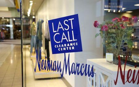 The sign outside the Neiman Marcus Last Call store is seen in Golden, Colorado January 23, 2014.   REUTERS/Rick Wilking
