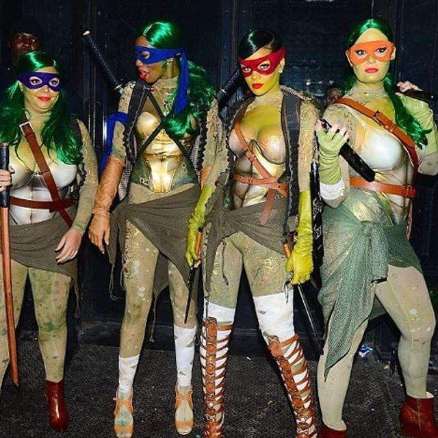 "<p>In the most unexpected costume I think I've ever seen, here's RiRi and some friends as the Teenage Mutant Ninja Turtles. Rihanna is dressed as Raphael (or #RIHphael as she put it <a href=""https://twitter.com/rihanna/status/528437641172496384"" rel=""nofollow noopener"" target=""_blank"" data-ylk=""slk:on Twitter"" class=""link rapid-noclick-resp"">on Twitter</a>) and it's the crossover I never knew I wanted. </p><p><a href=""https://www.instagram.com/p/BpfFdbRhIWI/?utm_source=ig_embed&utm_campaign=loading"" rel=""nofollow noopener"" target=""_blank"" data-ylk=""slk:See the original post on Instagram"" class=""link rapid-noclick-resp"">See the original post on Instagram</a></p>"
