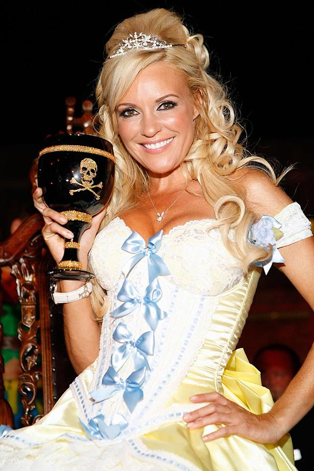 "Playboy Playmate Bridget Marquardt topped off her costume (is she Little Bo Peep, a pirate wench?) with a tiara. Jacob Andrzejczak/<a href=""http://www.wireimage.com"" target=""new"">WireImage.com</a> - August 16, 2008"