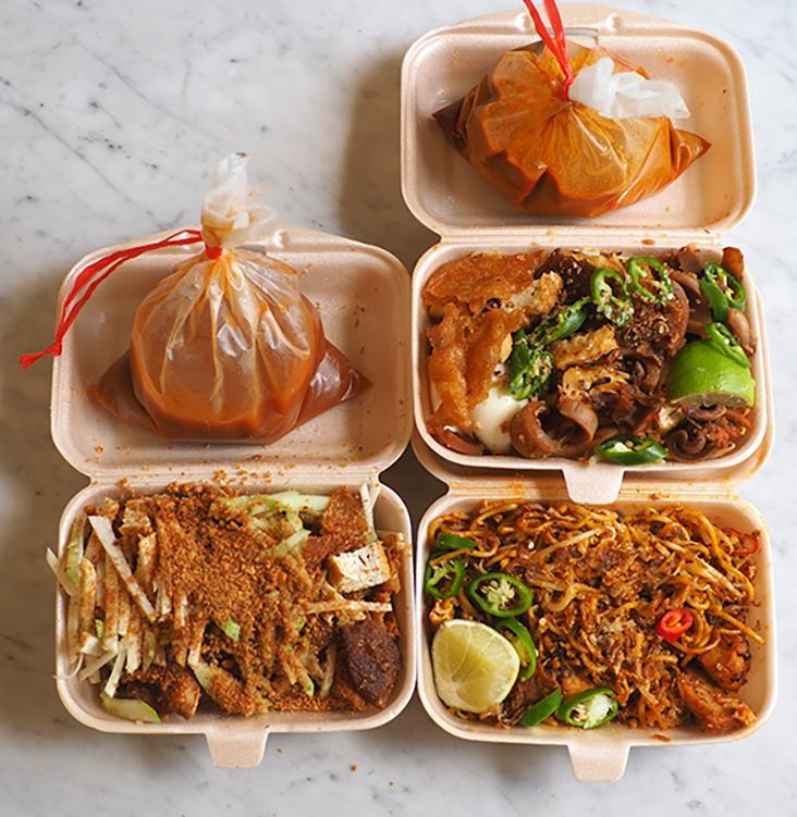 Your takeaway is packed in boxes with the gravy placed in plastic bags.