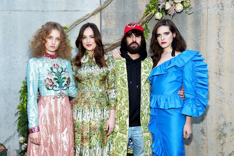 Dakota Johnson and Alessandro Michele Partied With Parrots for Gucci