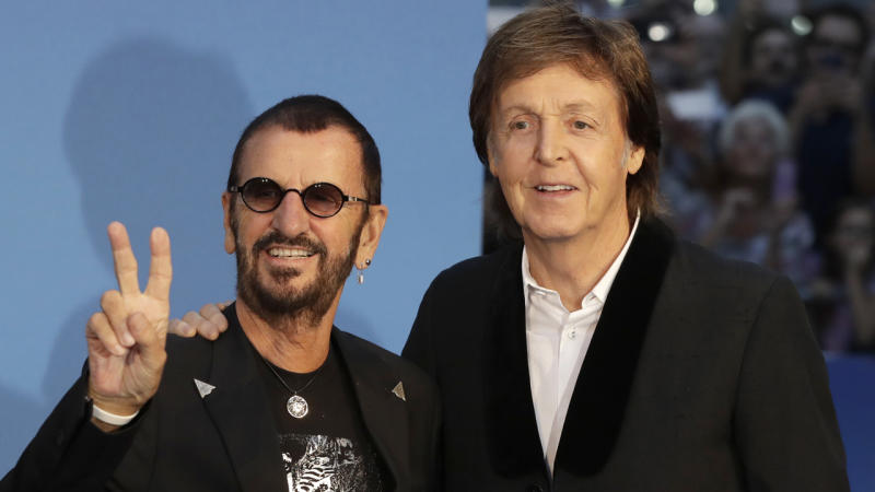 Paul, Ringo team-up for recording