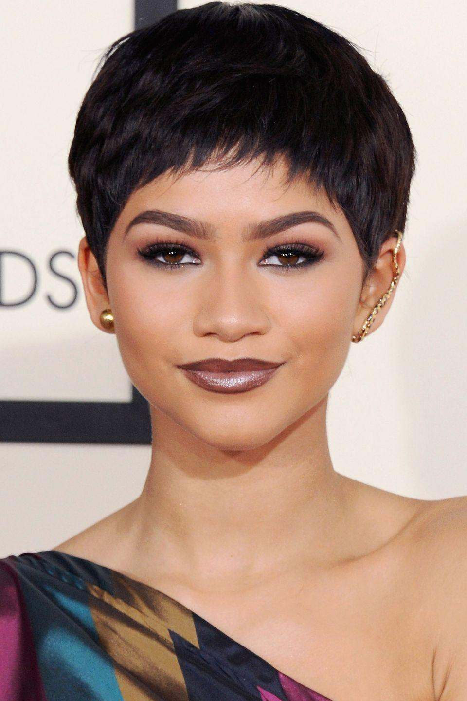<p>Trendsetter Zendaya proves pixie cuts are back and here to stay. </p>