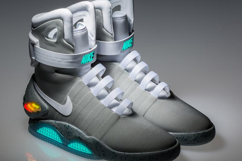 huge selection of be942 4d5ad These  Back to the Future  Nike Mag Sneakers Are Expected to Sell for up to   50,000