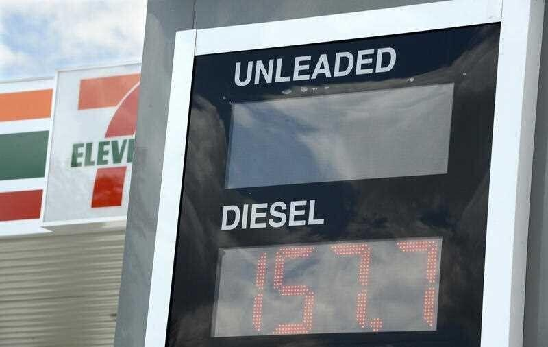 7-Eleven petrol station price sign