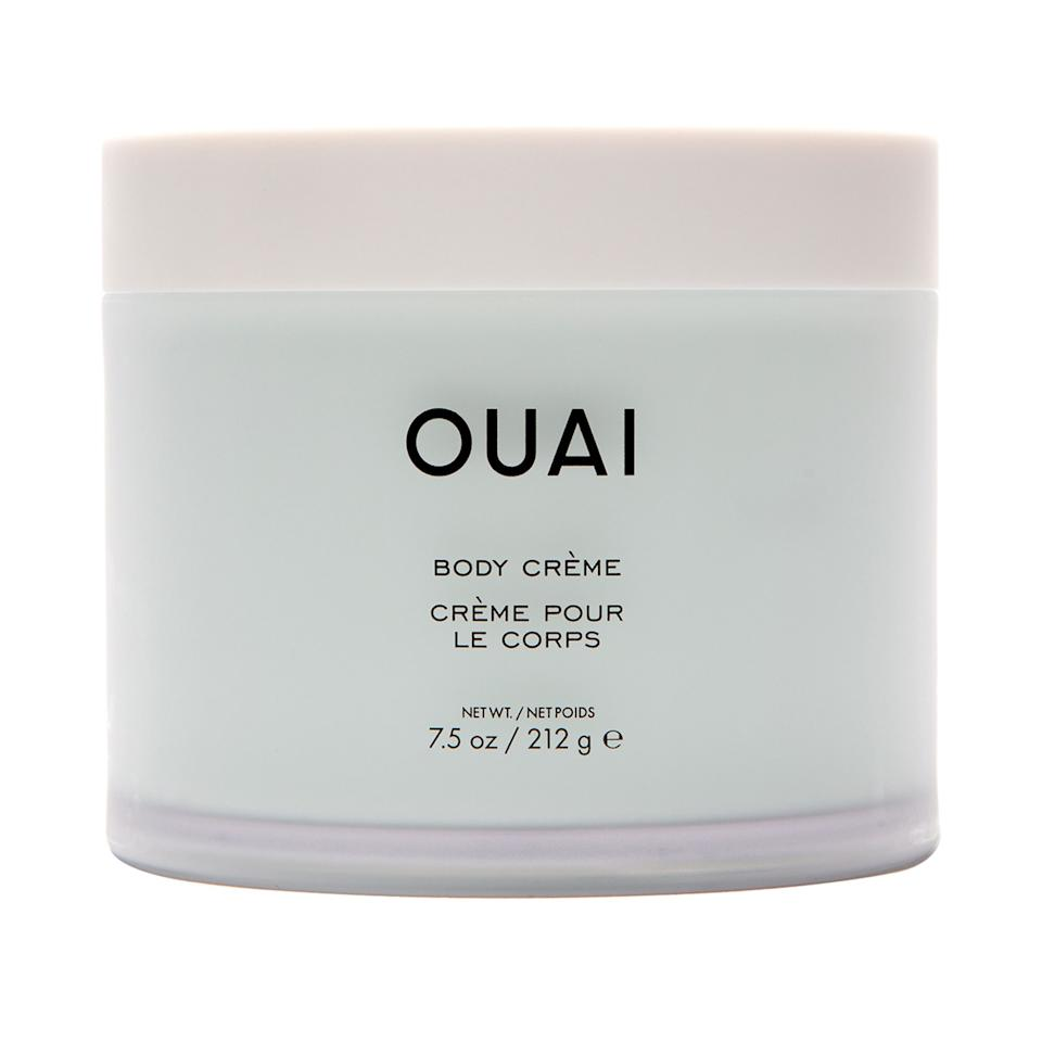 "<p>The airy, whipped Ouai Body Crème stirs together emollient cupuaçu butter, coconut oil, and <a href=""https://www.allure.com/story/squalane-vs-squalene-skin-care-difference?mbid=synd_yahoo_rss"">squalane</a>. The body cream smells faintly of rose, violet, and white musk, and it sinks in quickly so you're not leaving grease marks on everything you touch.</p> <p><strong>$38</strong> (<a href=""https://www.sephora.com/product/body-creme-P449774"" rel=""nofollow"">Shop Now</a>)</p>"