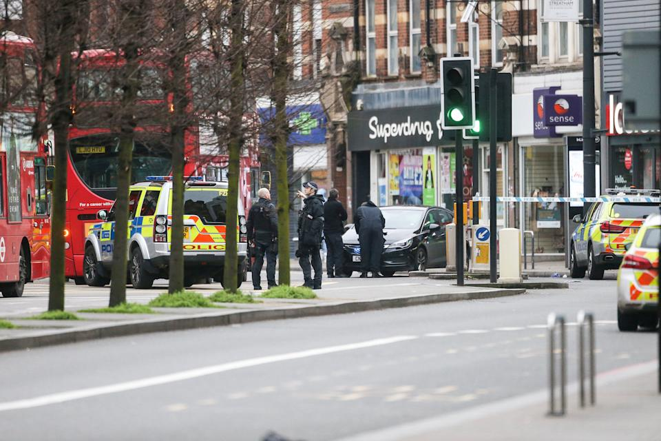 Police are treating the incident in Streatham as a terrorist attack (Picture: SWNS)
