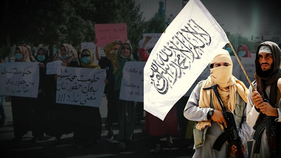 Kabul: Taliban arrests journalists as protesters chant