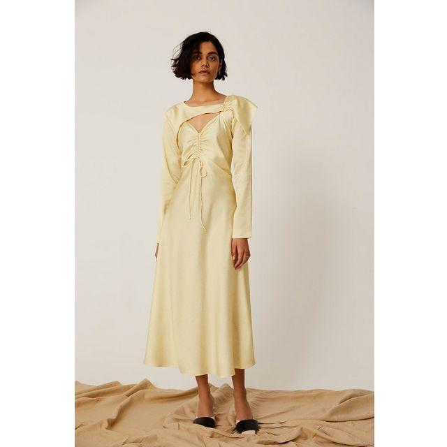 """<p>Saudi-born, London-based designer Yasmina Q has recently launched her namesake label, one which focuses on """"thoughtful dressing"""", encouraging women to embrace their most beautiful selves and feel confident through her simple, yet well-made designs. The brand works only with community-based production facilities, who make small runs, supporting individuals displaced by difficult circumstances, and supporting and paying back into training programmes and apprenticeships. Yasmina Q also only uses fabrics that are either classed as dead-stock or sustainably sourced.<strong><br></strong></p><p><strong>We go there for: </strong>Elegant dresses for any occasion.</p><p><a class=""""link rapid-noclick-resp"""" href=""""https://www.yasminaq.com/"""" rel=""""nofollow noopener"""" target=""""_blank"""" data-ylk=""""slk:SHOP YASMINA Q"""">SHOP YASMINA Q</a></p><p><a href=""""https://www.instagram.com/p/B_Mqwt-lCIo/?utm_source=ig_embed&utm_campaign=loading"""" rel=""""nofollow noopener"""" target=""""_blank"""" data-ylk=""""slk:See the original post on Instagram"""" class=""""link rapid-noclick-resp"""">See the original post on Instagram</a></p>"""
