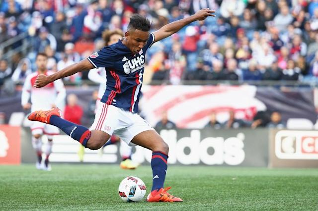 Juan Agudelo, pictured on March 12, 2016, scored twice as New England Revolution took advantage of struggling debutants Minnesota United to notch their first win of 2017 (AFP Photo/Maddie Meyer)