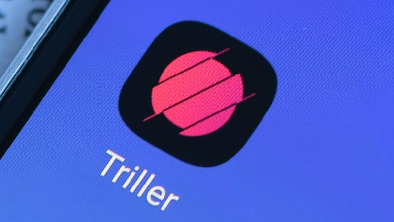 In this photo illustration a Triller logo is seen displayed