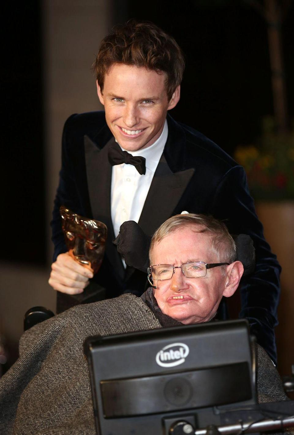 <p>Eddie Redmayne portrayed theoretical physicist Stephen Hawking in the 2014 film <em>The Theory of Everything. </em></p>
