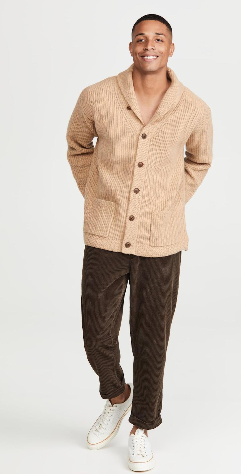 <p>This <span>Polo Ralph Lauren Wool Cashmere Cardigan</span> ($298) was made to be lived in, thanks to the roomy silhouette, modern design, and put-together look. It's a great one to wear to the office and beyond.</p>