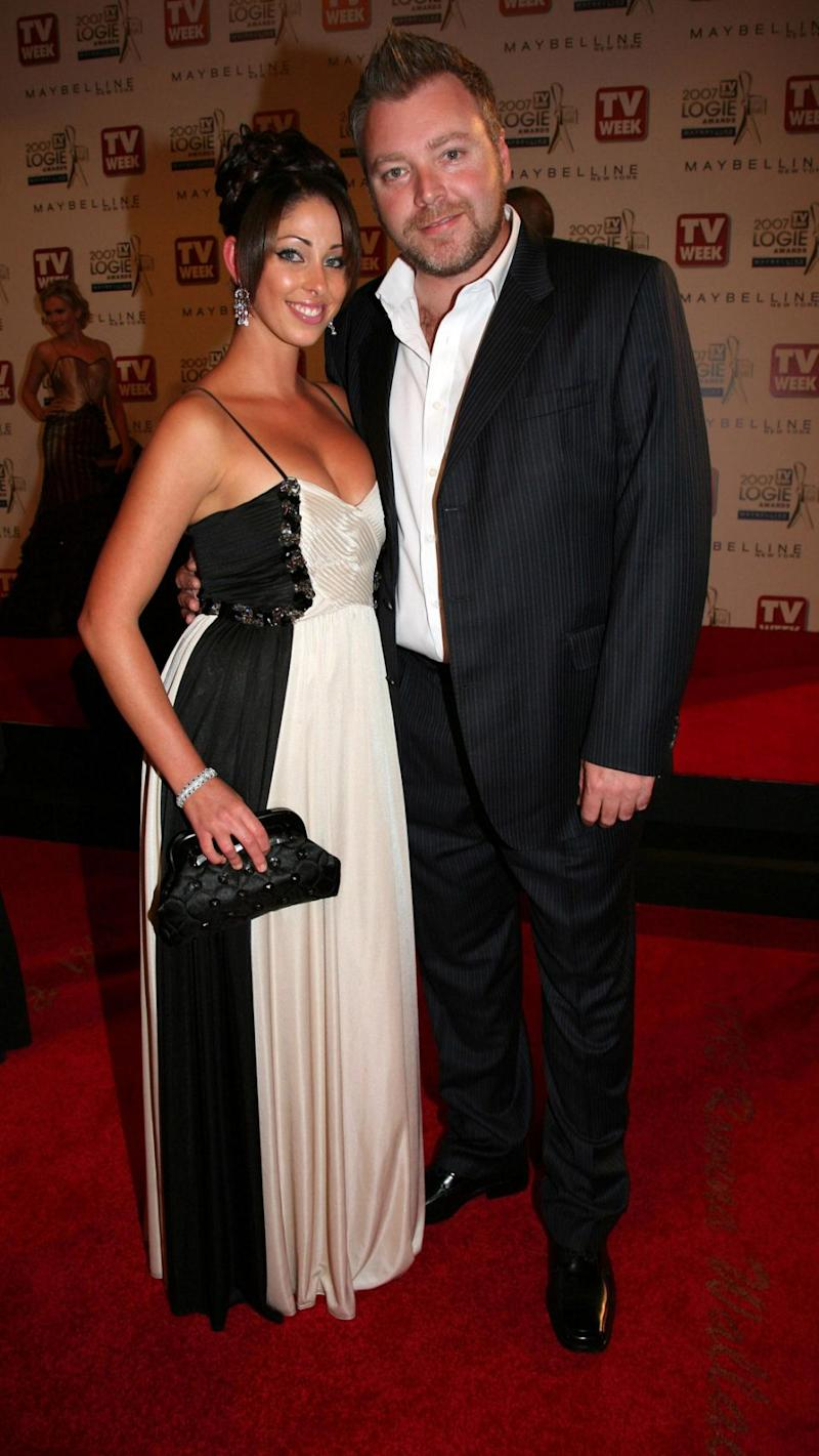 Kyle and Tamara were married for two years, eventually divorcing in 2010. The former couple are pictured here at the 2007 Logie Awards. Source: Getty