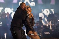 <p>Jay-Z came out to support Beyoncé when she performed at London's Twickenham stadium for girls' global education and empowerment charity event Chime for Change.</p>