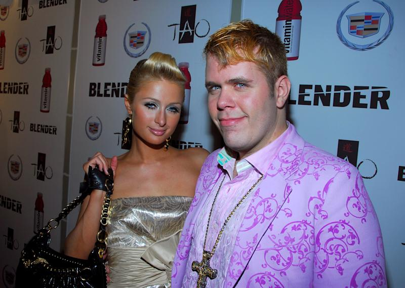 Paris Hilton and Perez Hilton (Photo by Stephen Lovekin/WireImage)