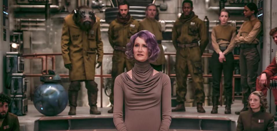 Laura Dern's Vice Admiral Holdo has to deal with an annoying male subordinate