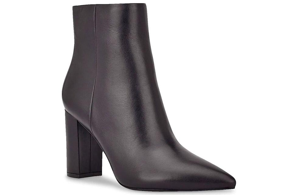 boots, black boots, heeled, pointed toe, marc fisher