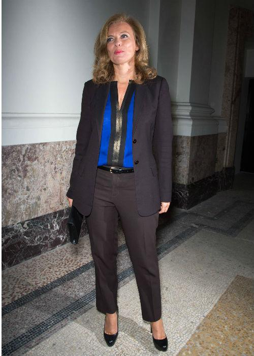 Valérie Trierweiler attends the Saint Laurent Spring / Summer 2013 show as part of Paris Fashion Week on October 1, 2012.