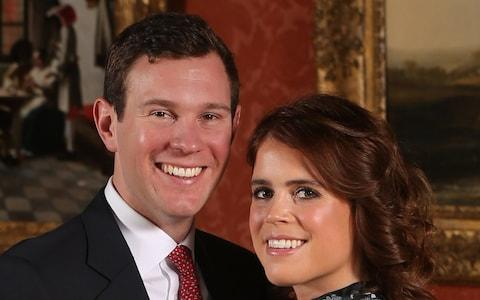 Princess Eugenie and Jack Brooksbank on their engagement day  - Credit: Jonathan Brady/Jonathan Brady
