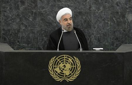 Iranian President Hassan Rouhani addresses a High-Level Meeting on Nuclear Disarmament during the 68th United Nations General Assembly at U.N. headquarters in New York
