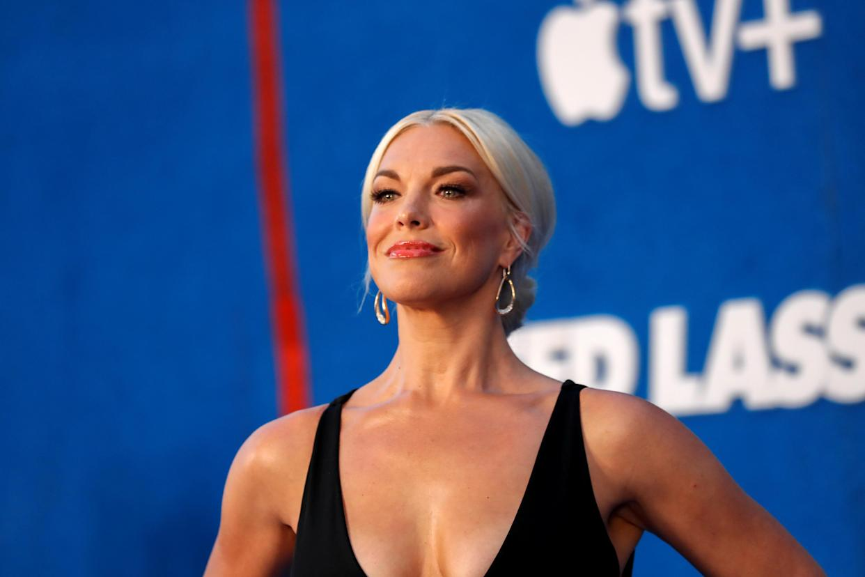 Cast member Hannah Waddingham attends the premiere for season two of the television series
