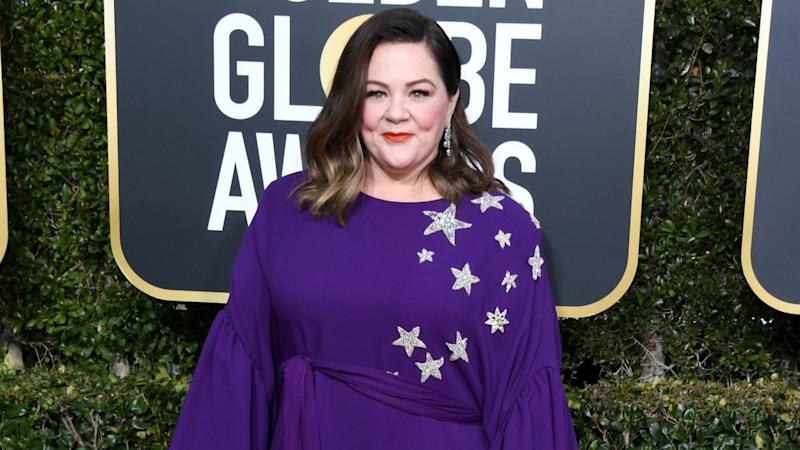 All Stars! Melissa McCarthy in purple at the 2019 Golden Globes