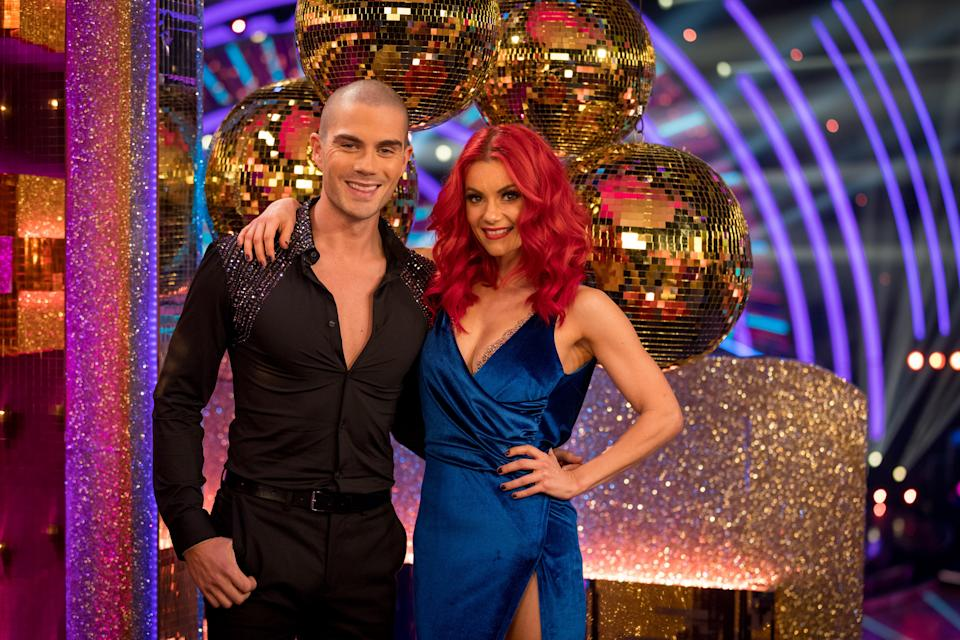 Max George is dancing with Dianne Buswell. (BBC/Guy Levy)