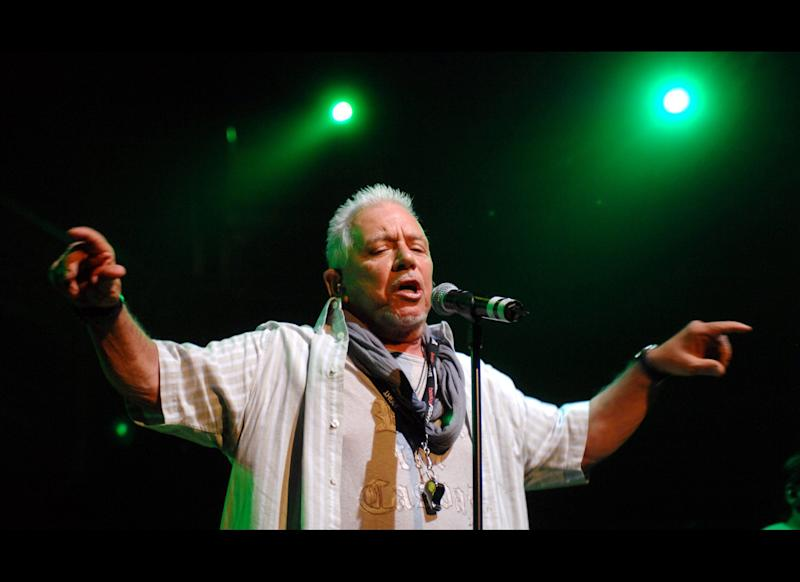 Pictured: Eric Burdon LONDON: Eric Burdon performs a special one off reunion concert with his band War on April 21, 2008 at the Royal Albert Hall in London, England. It was Eric Burdon and War's first concert for 37 years. (Photo by Samir Hussein/Getty Images)