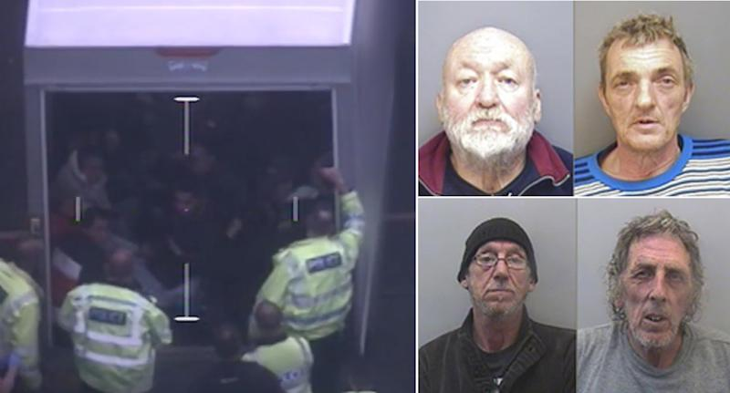 Four men, right, have been jailed for smuggling Vietnamese nationals into the UK (Devon and Cornwall Police)