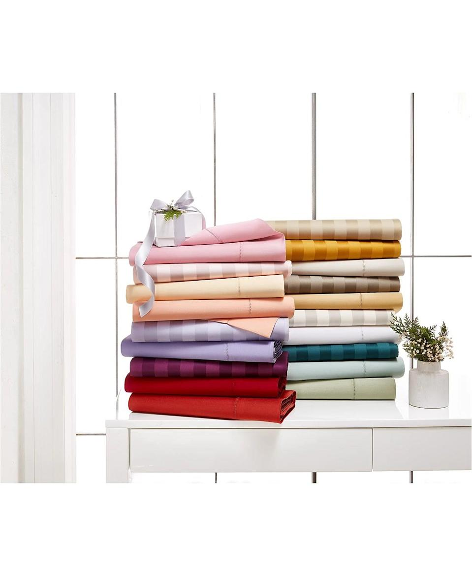 <p><span>Charter Club Damask Stripe 100% Supima Cotton 550 Thread Count Sheet Set</span> ($30, originally $70 for Twin; $51, originally $120 for Full; $72, originally $170 for Queen; $85, originally $200 for King (with code FOURTH))</p>