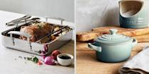 """<p>After spending the past few months cooking the <em>same</em> <a href=""""https://www.cosmopolitan.com/lifestyle/a34717604/best-tiktok-recipes/"""" rel=""""nofollow noopener"""" target=""""_blank"""" data-ylk=""""slk:recipes"""" class=""""link rapid-noclick-resp"""">recipes</a> with the <em>same </em><a href=""""https://www.cosmopolitan.com/food-cocktails/g33598358/cool-kitchen-gadgets/"""" rel=""""nofollow noopener"""" target=""""_blank"""" data-ylk=""""slk:appliances"""" class=""""link rapid-noclick-resp"""">appliances</a>, you might be itching to add some variety back to your culinary repertoire. Fortunately, <a href=""""https://go.redirectingat.com?id=74968X1596630&url=https%3A%2F%2Fwww.surlatable.com%2Fhome&sref=https%3A%2F%2Fwww.cosmopolitan.com%2Flifestyle%2Fg35165150%2Fsur-la-table-sale%2F"""" rel=""""nofollow noopener"""" target=""""_blank"""" data-ylk=""""slk:Sur La Table"""" class=""""link rapid-noclick-resp"""">Sur La Table</a> is here to help. Since its founding in 1972, Sur La Table has been a one-stop-shop for all your <a href=""""https://www.cosmopolitan.com/lifestyle/g32066144/best-instant-pots/"""" rel=""""nofollow noopener"""" target=""""_blank"""" data-ylk=""""slk:cooking needs"""" class=""""link rapid-noclick-resp"""">cooking needs</a>. And, for a limited time only, the retailer is having a huge sale on pots, pans, and so much more. From<a href=""""https://go.redirectingat.com?id=74968X1596630&url=https%3A%2F%2Fwww.surlatable.com%2Fsale%2Fcookware-sale%2F&sref=https%3A%2F%2Fwww.cosmopolitan.com%2Flifestyle%2Fg35165150%2Fsur-la-table-sale%2F"""" rel=""""nofollow noopener"""" target=""""_blank"""" data-ylk=""""slk:50% off top cookware brands"""" class=""""link rapid-noclick-resp""""> 50% off top cookware brands</a> like <a href=""""https://go.redirectingat.com?id=74968X1596630&url=https%3A%2F%2Fwww.surlatable.com%2Fbrands%2Fle-creuset%2F&sref=https%3A%2F%2Fwww.cosmopolitan.com%2Flifestyle%2Fg35165150%2Fsur-la-table-sale%2F"""" rel=""""nofollow noopener"""" target=""""_blank"""" data-ylk=""""slk:Le Creuset"""" class=""""link rapid-noclick-resp"""">Le Creuset</a> to deep discounts on knife sets, this sale has something for """