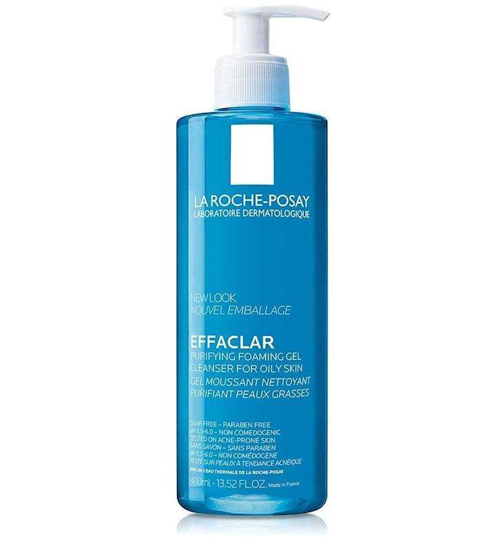 """<h2>La Roche-Posay</h2><br><em><strong>Shop</strong></em> <em><strong>30% off</strong> La Roche-Posay at <strong><a href=""""https://amzn.to/3gTyAt6"""" rel=""""nofollow noopener"""" target=""""_blank"""" data-ylk=""""slk:Amazon"""" class=""""link rapid-noclick-resp"""">Amazon</a></strong></em><br><br><strong>La Roche-Posay</strong> Effaclar Purifying Foaming Gel Cleanser, $, available at <a href=""""https://amzn.to/2SpoMyY"""" rel=""""nofollow noopener"""" target=""""_blank"""" data-ylk=""""slk:Amazon"""" class=""""link rapid-noclick-resp"""">Amazon</a>"""