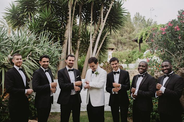 Aram and his boys. Who doesn't love a man in a tuxedo?