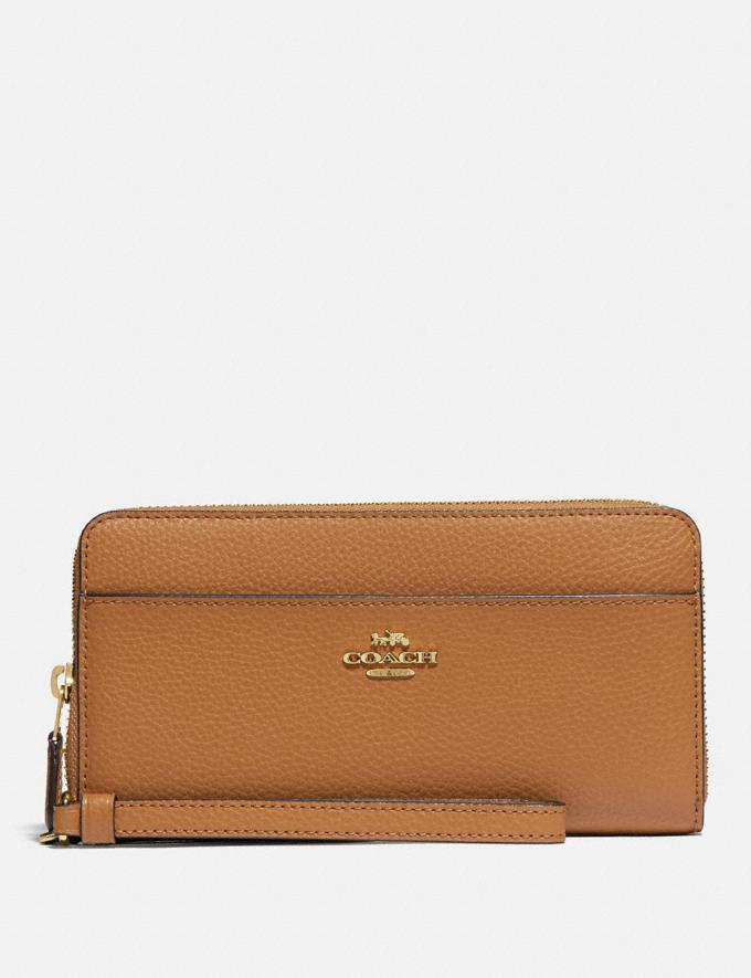 Accordion Zip Wallet With Wristlet Strap - Coach Outlet.