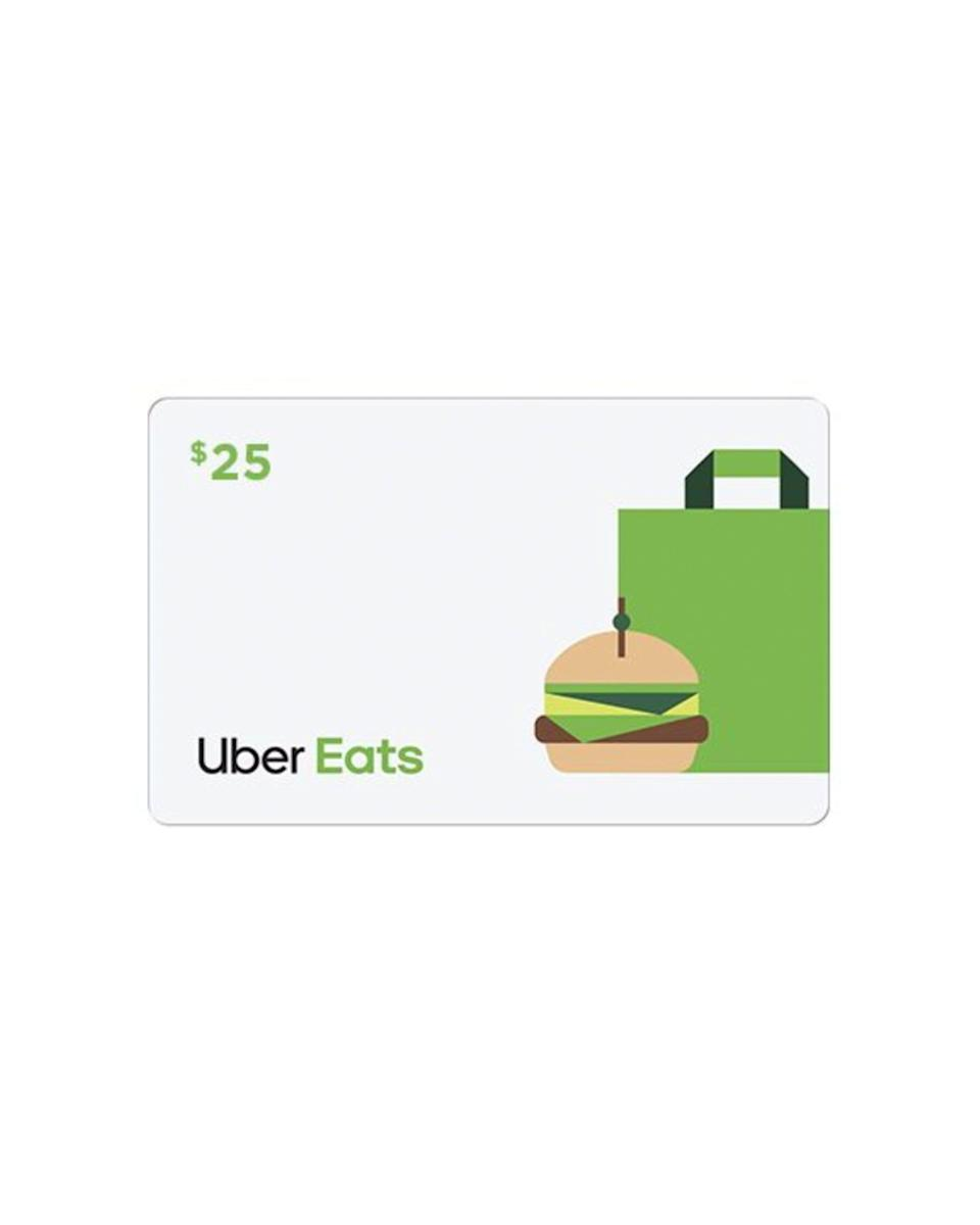 """<p><strong>Uber</strong></p><p>walmart.com</p><p><strong>$25.00</strong></p><p><a href=""""https://go.redirectingat.com?id=74968X1596630&url=https%3A%2F%2Fwww.walmart.com%2Fip%2F932094930&sref=https%3A%2F%2Fwww.cosmopolitan.com%2Fstyle-beauty%2Ffashion%2Fg33379776%2Fbest-online-gifts%2F"""" rel=""""nofollow noopener"""" target=""""_blank"""" data-ylk=""""slk:Shop Now"""" class=""""link rapid-noclick-resp"""">Shop Now</a></p><p>We all know Uber Eats can get really expensive. So help 'em out with a lil gift card.</p>"""
