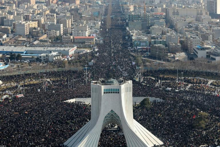 Iranian mourners filled the streets of Tehran on Monday to pay tribute to Soleimani who headed the foreign operations of Iran's elite Revolutionary Guards