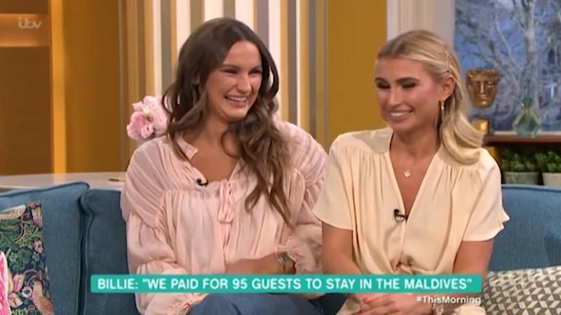 "Billie Faiers said she was ""in shock"" after wedding scrutiny on an episode of 'This Morning'. (Credit: ITV)"