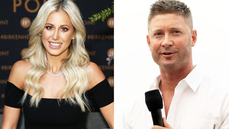 Michael Clarke and Roxy Jacenko, pictured here at PR events.