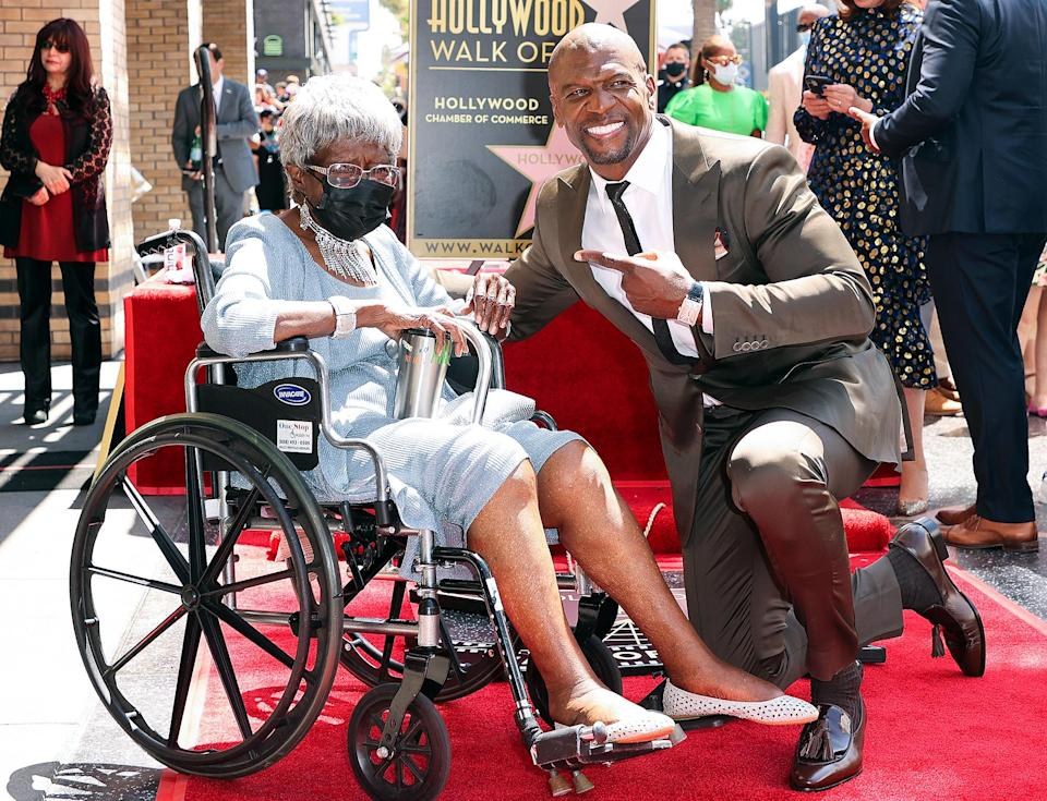 <p>Terry Crews brings his grandmother Eremelle Williams to the Hollywood Walk of Fame on July 30 as he receives his star in Los Angeles. </p>